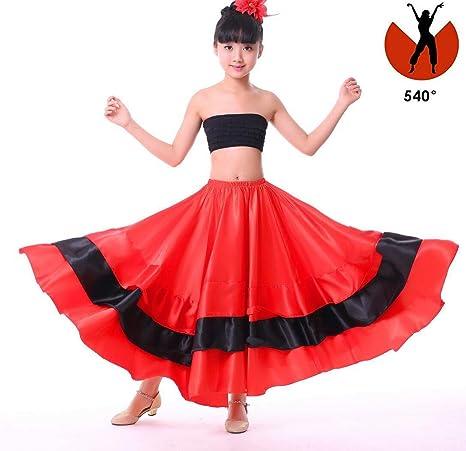 Niña Salón de Baile Falda de Baile Flamenco español Faldas para ...