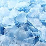 BDM 1000 Pieces Silk Rose Petals for Wedding Decoration,light blue