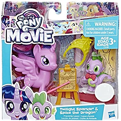 My Little Pony The Movie Twilight Sparkle With Spike the Dragon Exclusive: Toys & Games