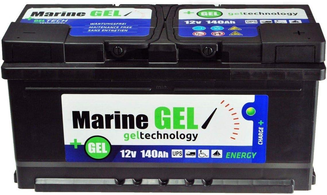Gel batería 140Ah Marino Lancha batería 12 V Libre de Mantenimiento batería Armario