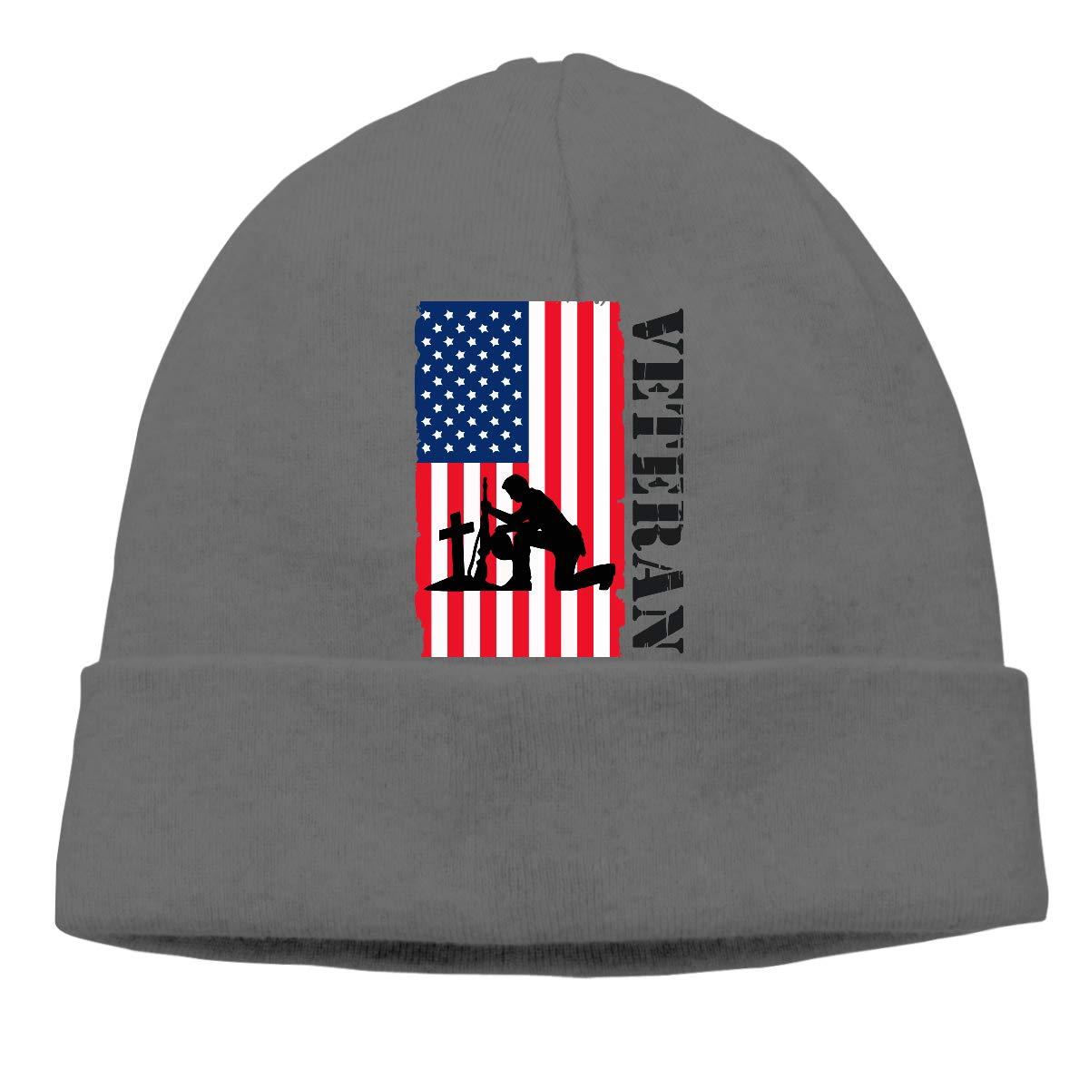 American Veteran Soldier Flag4 Men//Women Daily Slouchy Sports Beanie Skull Cap