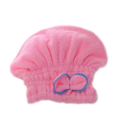 Brillante textil de microfibra de pelo turbante rápidamente cabello secado con toalla envuelta baño de color