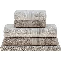 jogo toalhas banho buddemeyer 5p fio penteado bege 0107