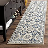 Safavieh Patina Collection PTN320D Blue and Ivory Cotton Runner (22 x 12)