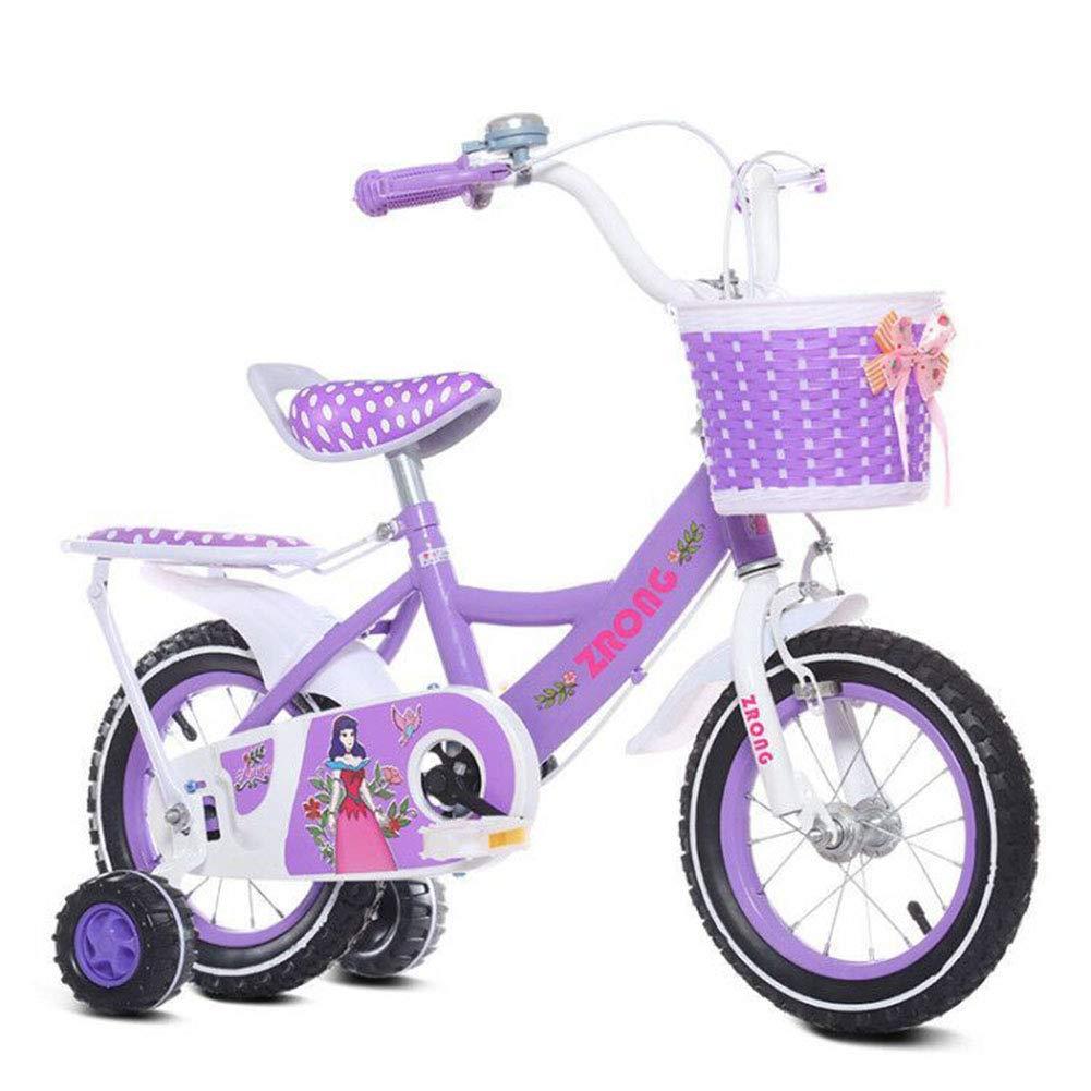 envío gratis púrpura1-1 Bicicleta niña niña niña 16 Pulgadas - Niño 5-6 años de Edad - Neumático Inflable - Ajuste cómodo - Pequeño cableado - Princess Bike  orden ahora disfrutar de gran descuento
