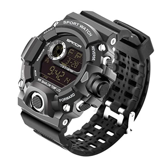 Reloj Digital Deportivo para Hombre - 30 m Impermeable Militar Digital Reloj Despertador/Temporizador, Reloj de Pulsera Militar con retroiluminación LED ...