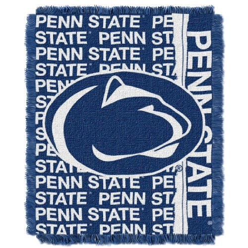 Nittany Lions Woven Jacquard - The Northwest Company Officially Licensed NCAA Penn State Nittany Lions Double Play Jacquard Throw Blanket, 48