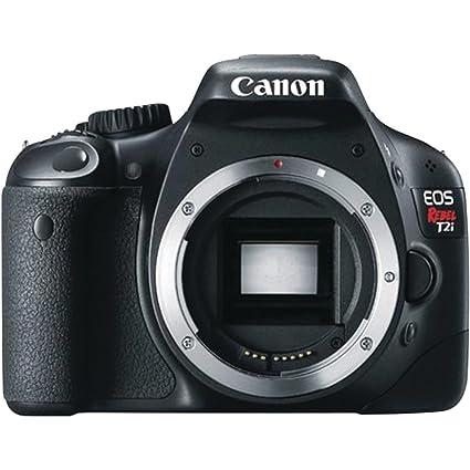 amazon com canon eos rebel t2i dslr camera body only rh amazon com