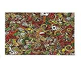 Interestlee Fleece Throw Blanket Casino Decorations Doodles Style Art Bingo Excitement Checkers King Tambourine Vegas