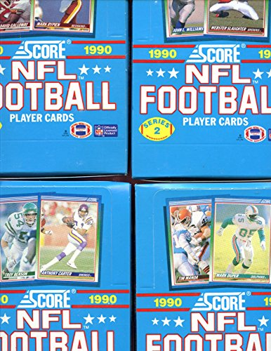 LOT of 4 1990 Score Football Series 2 Two Wax Pack Box Complete Set ()