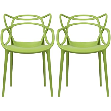 Amazon.com: 2 x Home – Set de 2 – Verde – Sillas de comedor ...