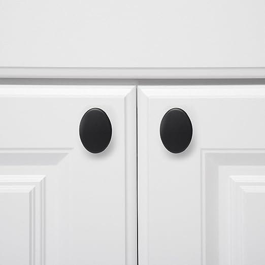 Basics plata envejecida paquete de 10 con dise/ño de aro superior Pomo de armario 2,95 cm de di/ámetro moderno