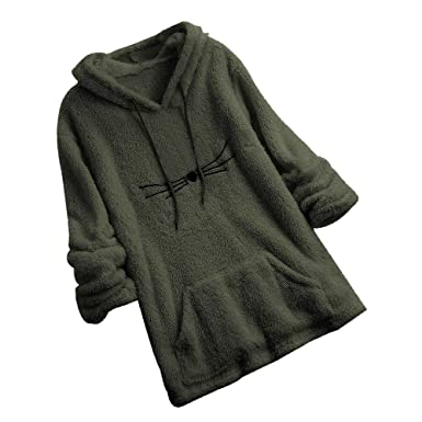 LILICAT❋ Suéter de Oso de Doble Cara, Sudadera de Lana de Manga Larga para Mujer Sudadera con Capucha Fuzzy con Forma de Oso cálido: Amazon.es: Ropa y ...