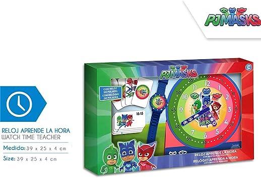 PJ Masks Set aprende Las Horas (PJ17120), Multicolor (Kids Licensing 1)