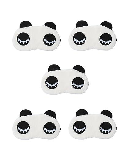 uxcell® diseño de oso panda de peluche dormir ojos Máscara funda Antifaz para dormir,