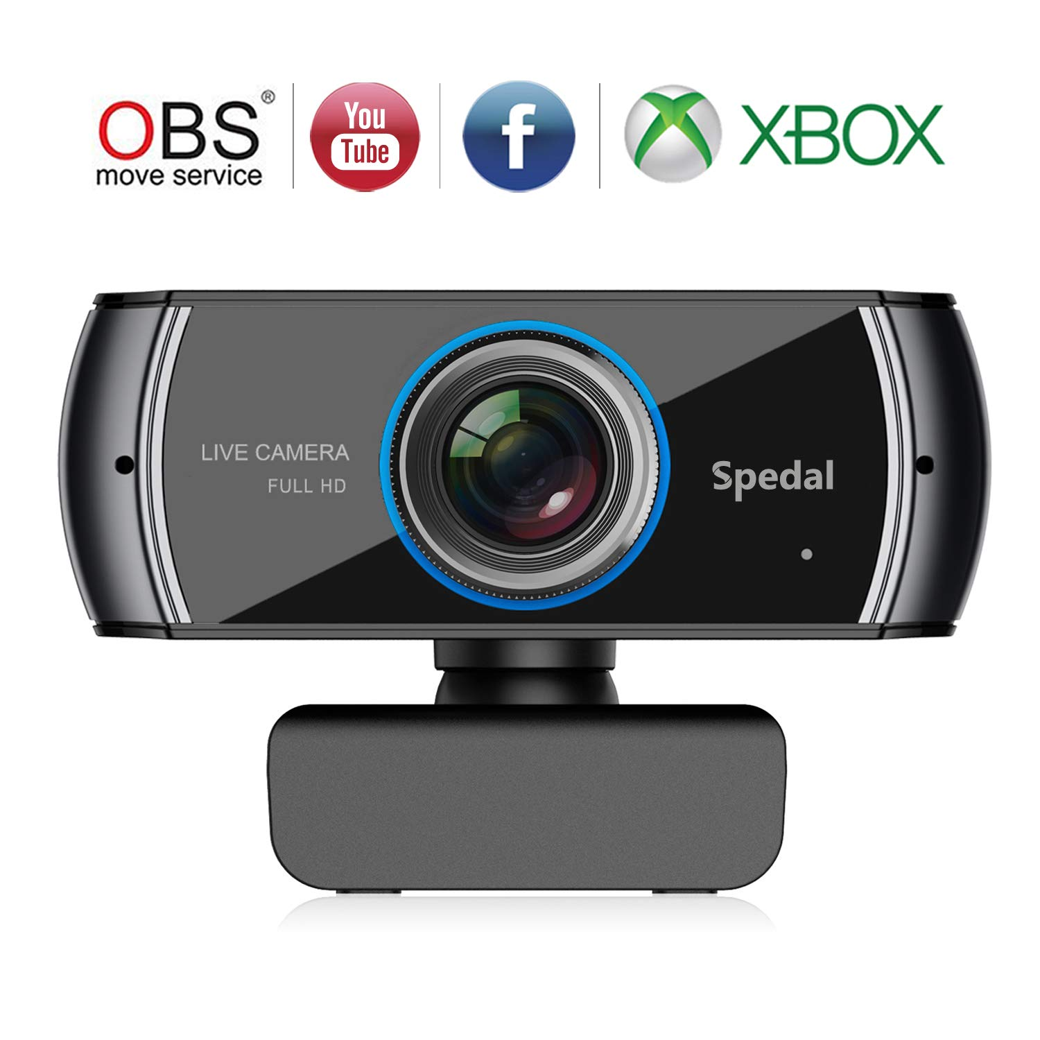 Spedal Full HD Webcam 1536p, Beauty Live Streaming Webcam, Computer Laptop Camera for OBS Xbox XSplit Skype Facebook, Compatible for Mac OS Windows 10/8/7 by Spedal