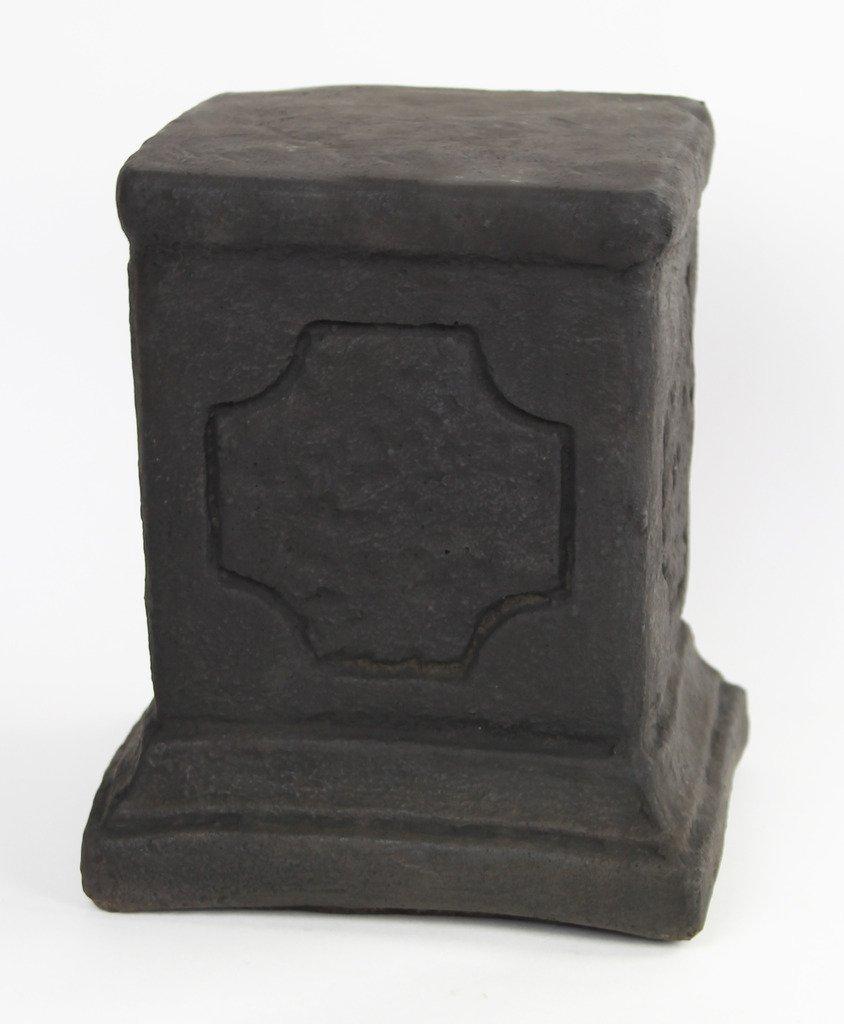 Fleur de Lis Garden Ornaments LLC Square Concrete Pedestal cement sm pedestal Cast stone Base Pedestal
