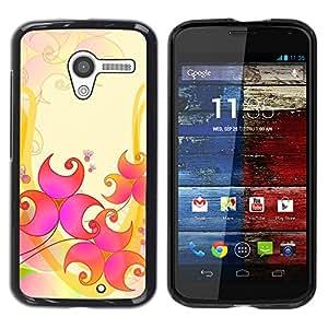 Noches árabes - Metal de aluminio y de plástico duro Caja del teléfono - Negro - Motorola Moto X 1 1st GEN I