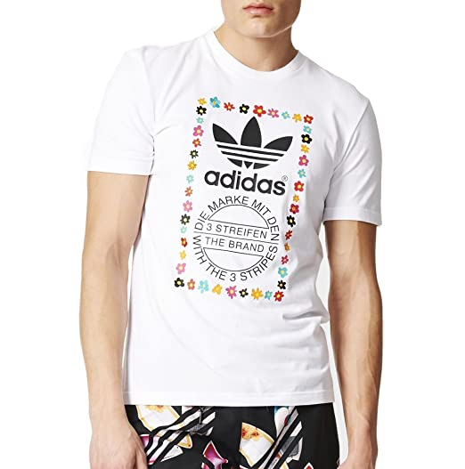 4d88db74 adidas Men's Originals Pharrell Williams Graphic TEE #AO3006 (S) White