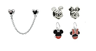 Disney Love Word Mickey Pink Charm Pendant Sister Mum Friend gift will fit Pandora and Biagi charm bracelets bmp Km70Y4OU56