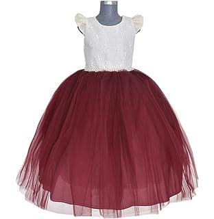 9a2438ad0 Maylin Vestido de Presentación Mo. Elizabeth para Niña (Oro, Talla 4 ...