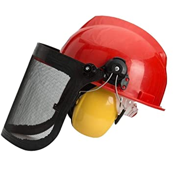 Amazon.com: LMLSHAQM Casco de seguridad para motosierra ...
