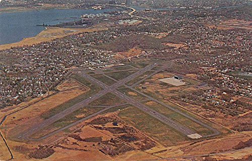 (New Haven Connecticut Municipal Airport Aerial View Vintage Postcard J71426)