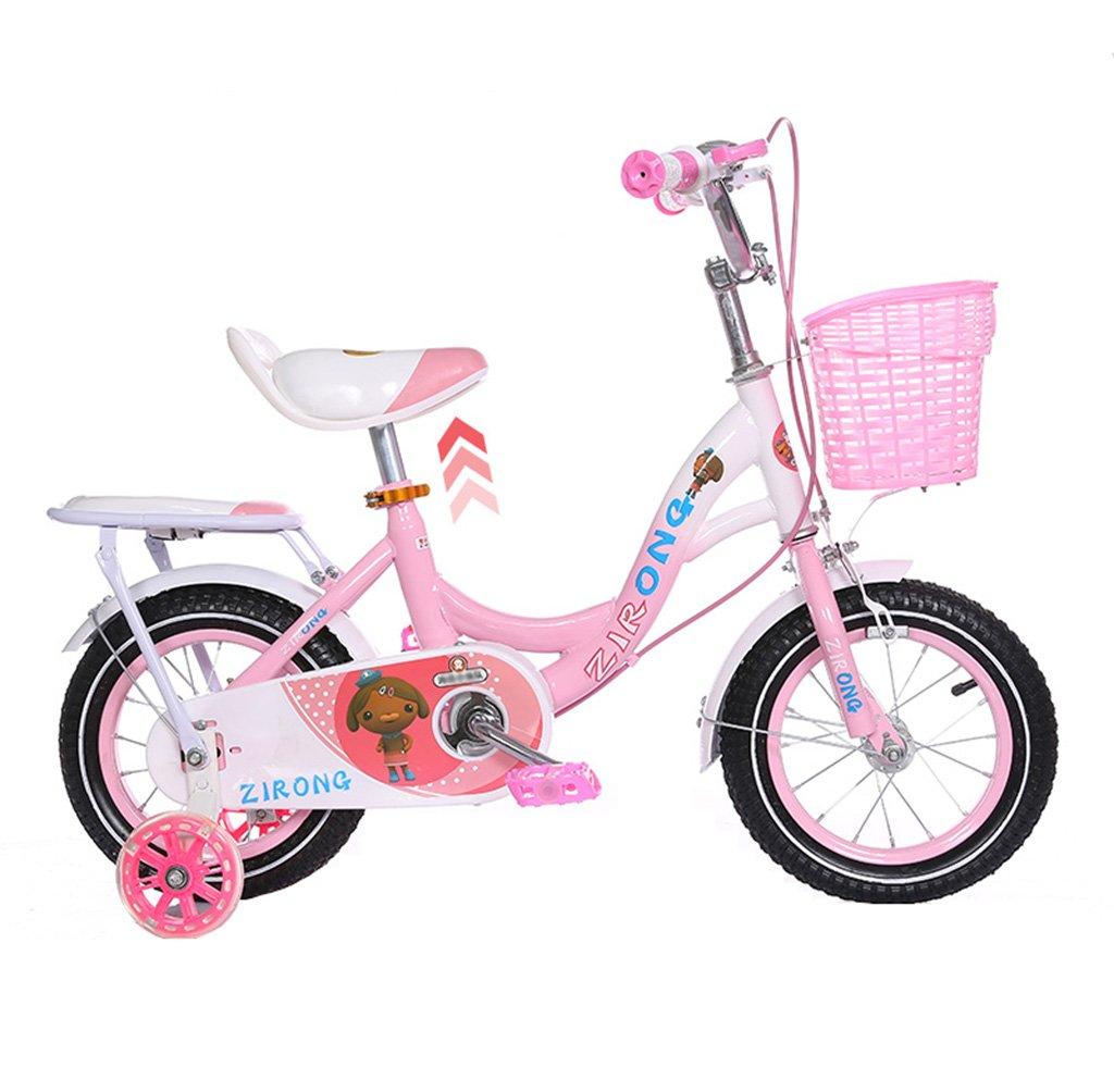 キッズ自転車2歳から10歳のベビーベビーカーのプリンセスモデル12/14/16/18インチ80kgピンク (サイズ さいず : 16inch) B07F2KNJ4L16inch