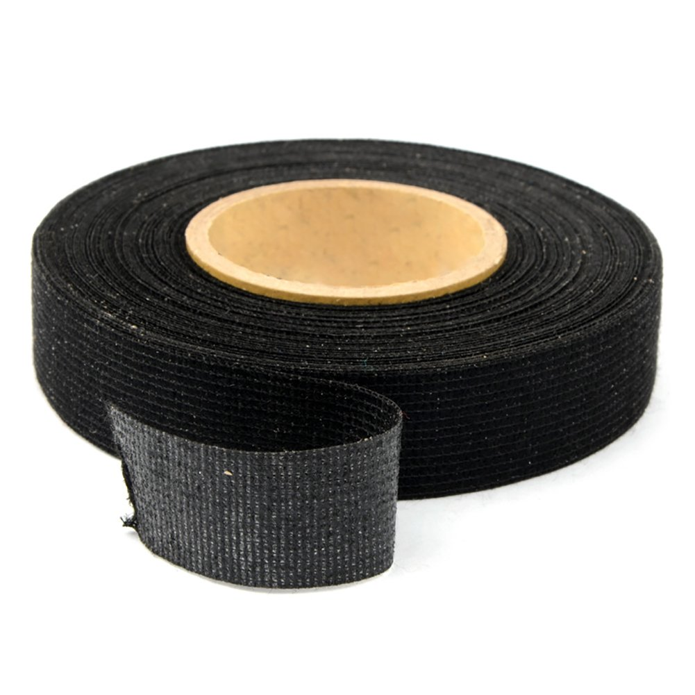 BRLIGE Wiring Harness Tape Heat-resistant Adhesive Cloth Fabric Tape Cable Looms For Car Motorcycle