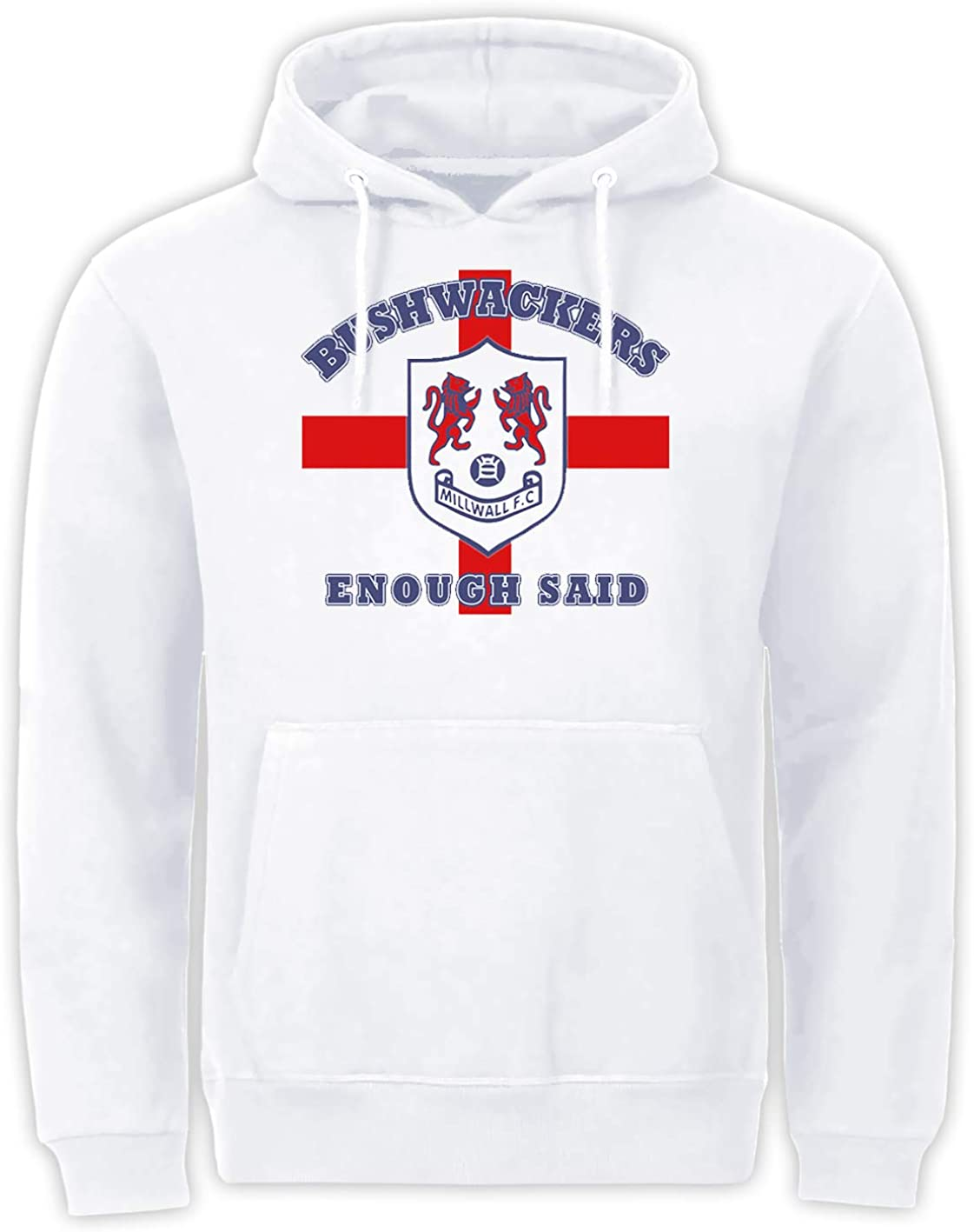 Tex-Ha Bushwackers London England Fussball Club Fan FC Support Weiss Hoodie Kapuzenpullover