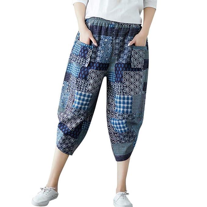 Cocoty-store 2019 Mujeres Casual Pantalones Harem Boho de ...