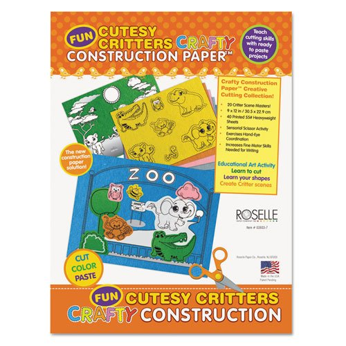 [Pacon Corporation 02803 9 x 12 Crafty Printed Construction Paper - Cutesy Critters44; 40 Sheets Per Pad] (Crafty Printed Construction Paper)