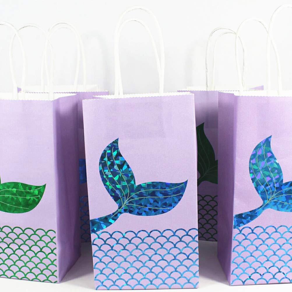 Amazon.com: BESTOYARD 12PCS Cartoon Gift Bags Mermaid Tail ...