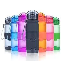 Grsta Sport Trinkflasche Auslaufsicher Wasserflasche - 400ml/500ml/750ml/1L - BPA frei Kunststoff mit Filter Für Kinder & Frauen, Fahrrad, Laufen, Camping, Fitness