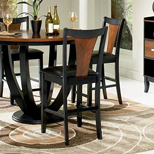 coaster-home-furnishings-102099-casual-counter-height-chair-black-and-cherry-black-set-of-2