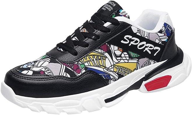 Sencillo Vida Zapatillas de Running para Hombre Zapatos de Seguridad Transpirables Zapatillas de Deporte Unisex Adulto Sneakers Casuales Vestir Zapatos Deportivas Cordones para Correr Gimnasio: Amazon.es: Zapatos y complementos
