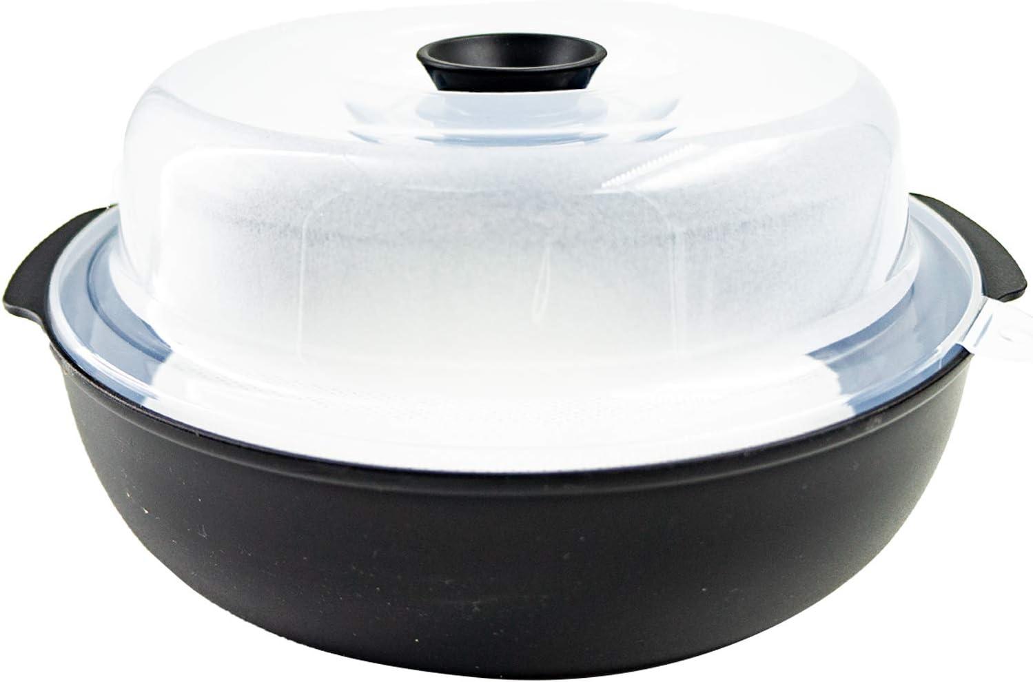 microwave steamer pot, Cookware Steamer, BPA Free, Fridge and Freezer Safe, 2.6L, 10.3