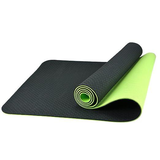 BESTEK® ecológico Doble Antideslizante Yoga Ejercicio Mat 1 ...