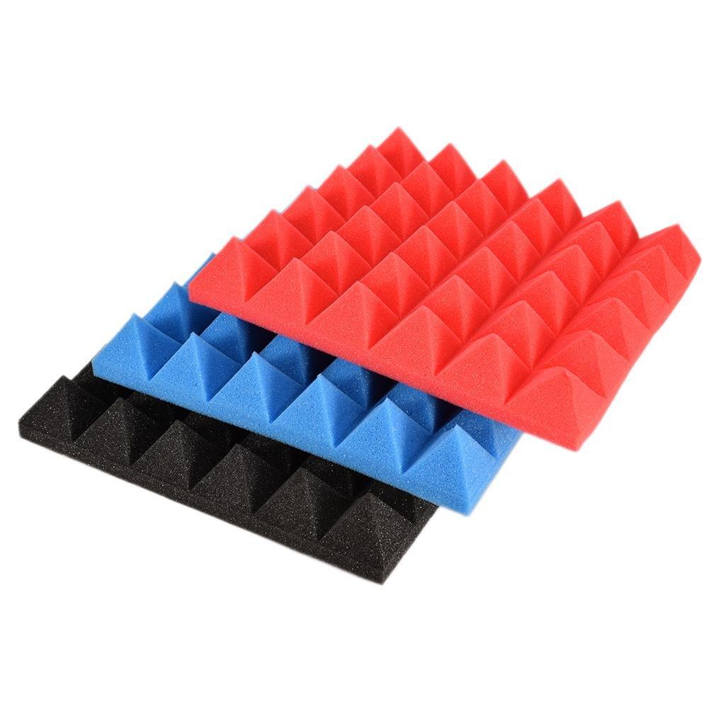 Globalqi Panneaux acoustiques Type de Pyramide 30 30 cm r/éduction du Bruit Isolation phonique Panneau Isolant Antichoc /étanche pour Chambre Salon Mur d/écoration