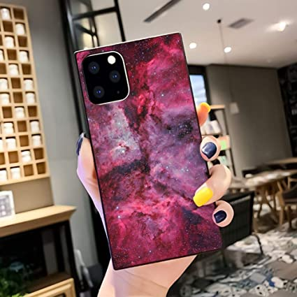 Amazon Com Red Starry Wallpaper Square Phone Case