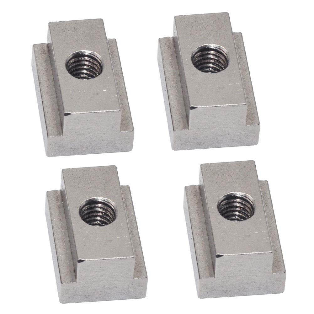 GZSJY T Slot Nuts for Toyota Bed Deck Rail, 4 PCS Stainless Steel Nuts for Tacoma & Tundra Cleats, Tie Downs and Accessories