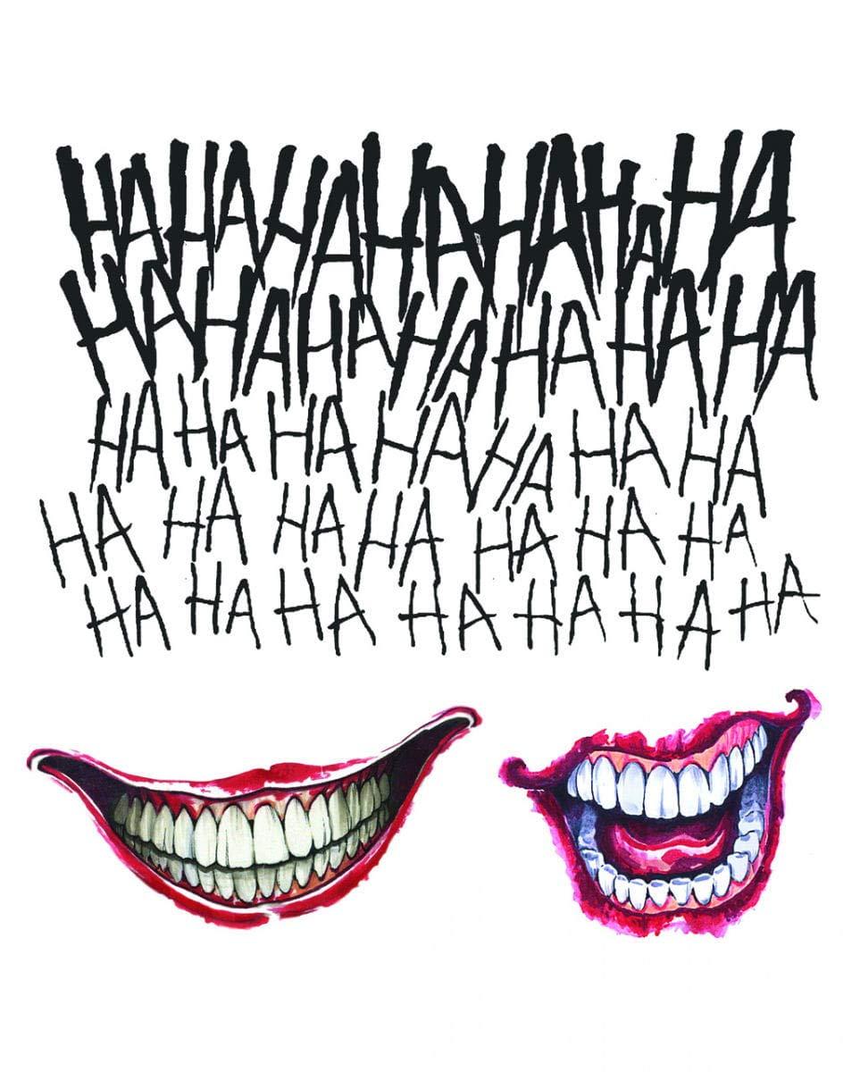 Horror-Shop Pelotón del Suicidio Joker Tattoo Set 3 Piezas ...