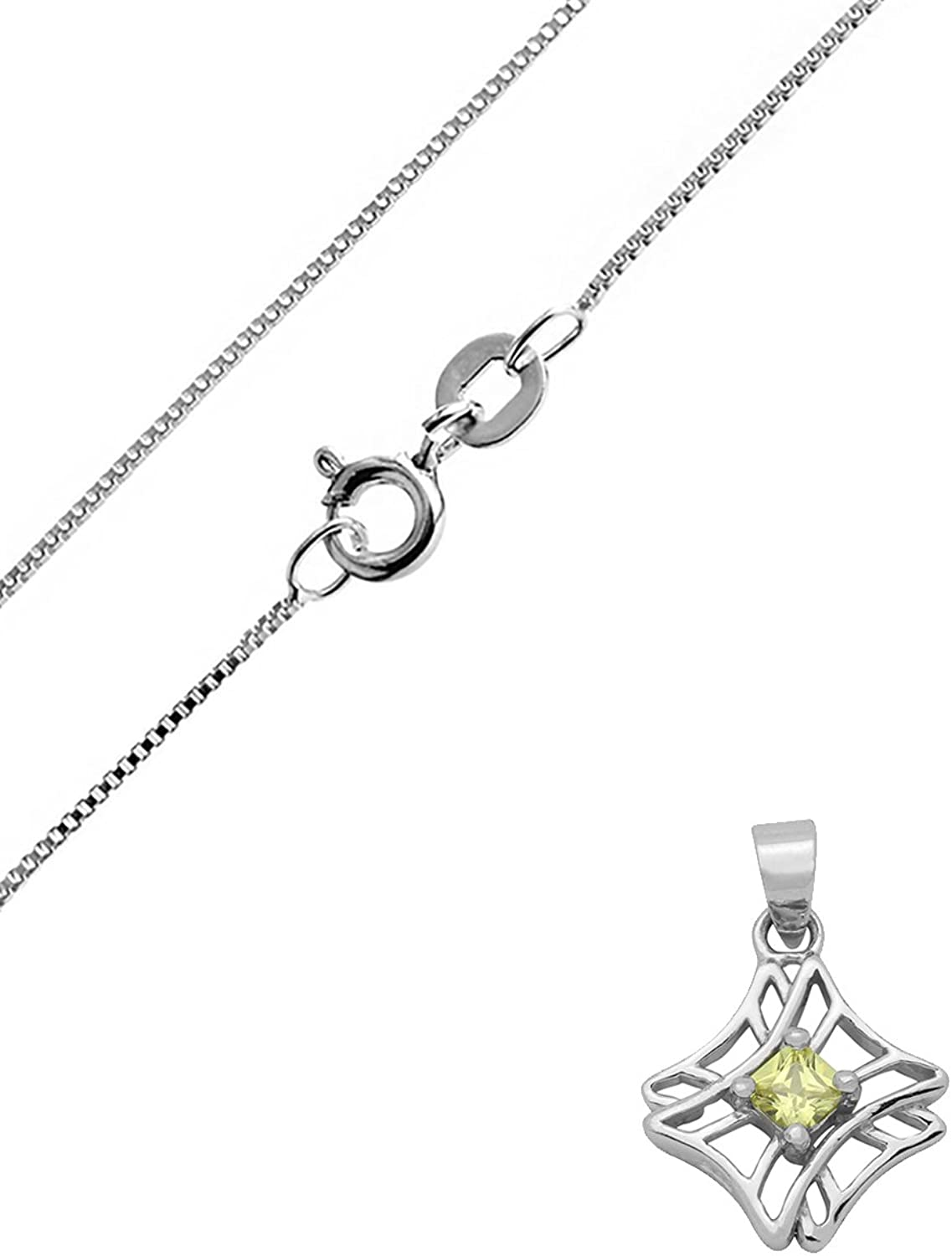 JewelryVolt 925 Sterling Silver CZ Pendant Violin Musical Instrument with Clear CZ Accent