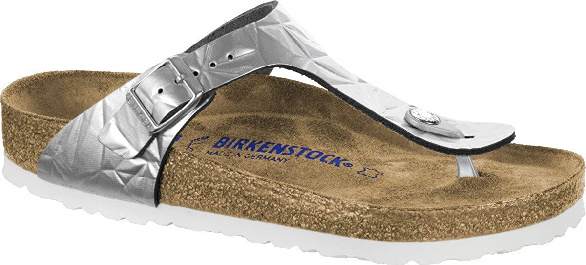 ff56565acb67 Birkenstock Women s Thong Sandals Silver Spectral Silver 9  Amazon.co.uk   Shoes   Bags