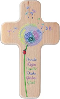 Butzon/&Bercker Kinderkreuze Kreuz f/ür Kinder Dankgebet 18 cm Kruzifix Holz-Kreuz Geschenkbox