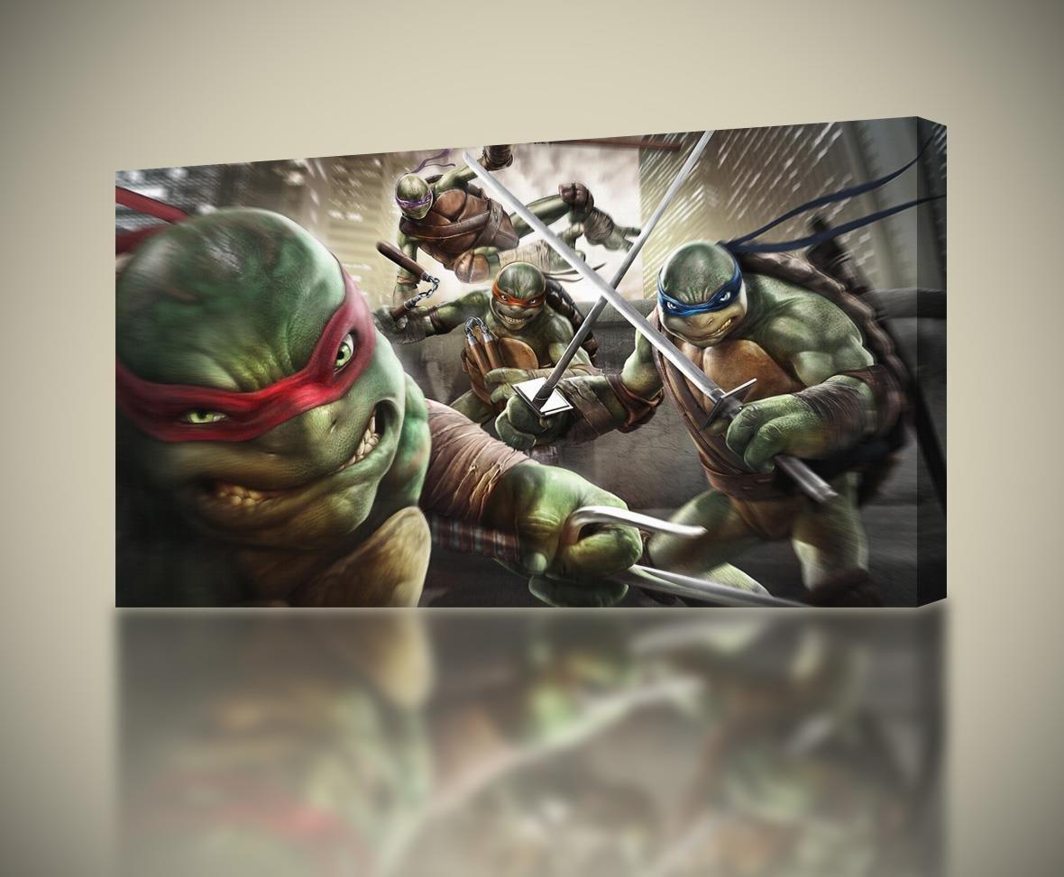 Ninja Turtles TMNT CANVAS PRINT Wall Art Decor Giclee4 Sizes CA117, Large