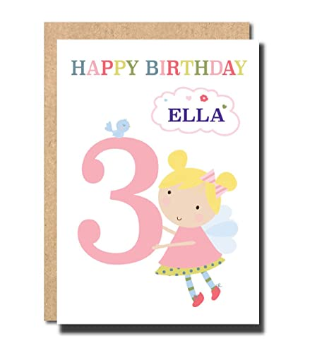 Personalised 3rd Birthday Card For Daughter Granddaughter Niece