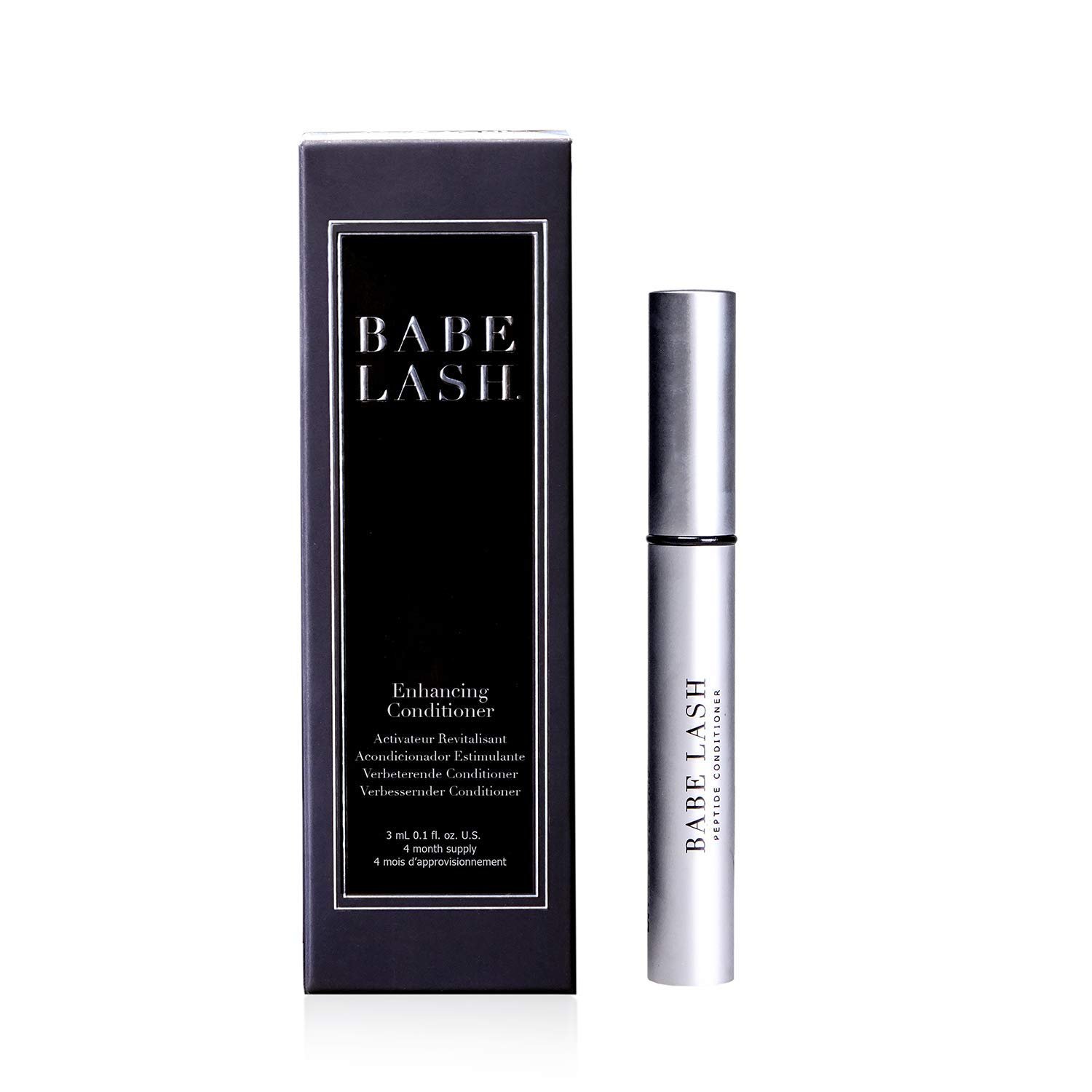 Babe Lash Enhancing Conditioner - Eyelash & Brow Enhancer with Peptides and Biotin - Nourish and add Luster to Lashes & Brows - Promotes appearance of soft and strong lashes - 3 mL by Babe Lash