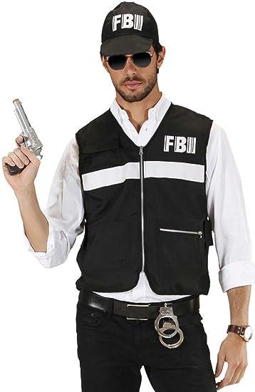 Scena del crimine INVESTIGATORE Costume FBI Poliziotta Vestito XL da Uomo Adulto