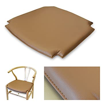 Merveilleux Wishbone CH24 Y Chair Style PU(Bicast Leather) Seat Cushion Pad   Brown